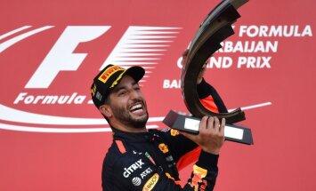 winner Grand Prix Baku Red Bull pilot Australian Daniel Ricciardo