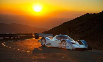 Izstādē Ķīpsalā var apskatīt Dambja 'PP02' sacīkšu elektromobili