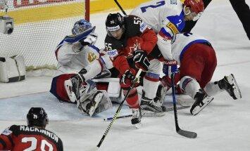 Video: Hokeja milžu cīņā Kanāda atspēlējas un sakauj Krieviju