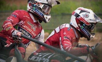 Kantētāju Daidera un Stupeļa ekipāžām ceturtā un sestā vieta kvalifikācijā PČ posmā blakusvāģu motokrosā