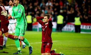 Latvijas futbola izlases neveiksmīgais oktobris: ar joni zaudēta vieta TOP 100