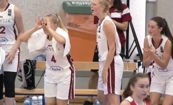 Latvijas U-16 basketbolistes dramatiski uzvar Krieviju un spēlēs par EČ devīto vietu