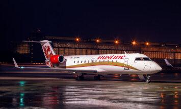 ФОТО: Российская региональная авиакомпания начала полеты по маршруту Рига - Москва