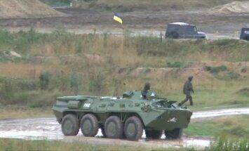 Video: 'Rapid Trident' - Latvijas un sabiedroto militārās mācības Ukrainā