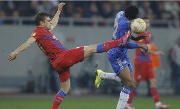 'Chelsea' futbolisti piedzīvo zaudējumu Rumānijā