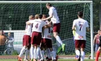 'Jelgavas' futbolisti trešo gadu pēc kārtas izcīna Latvijas kausu