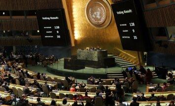 ANO Ģenerāla asambleja noraida Jeruzalemes atzīšanu par Izraēlas galvaspilsētu; Latvija atturas
