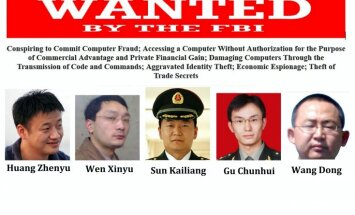 ASV piecām Ķīnas militārpersonām izvirzījušas apsūdzības kiberspiegošanā