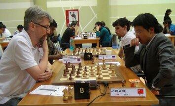 Rīgas šaha komandai uzvara pasaules pilsētu čempionāta pirmajā kārtā