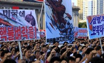 Vācija aicina Ziemeļkoreju un Trampu savaldīties