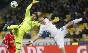 Dynamo Kyiv Domagoj Vida, Benfica keeper Ederson