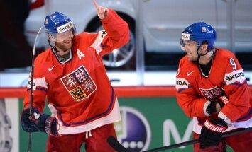 Čehijas izlasi PČ pārstāvēs astoņi KHL un 10 NHL spēlētāji