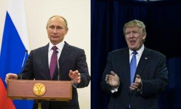 Putins un Tramps savā pirmajā telefonsarunā vienojas uzlabot abu valstu attiecības