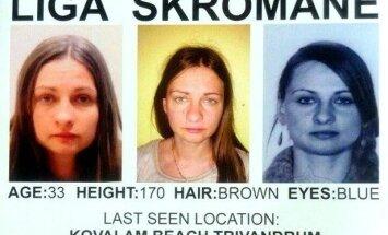 Indijā pazudusī Līga Skromane atrasta mirusi un sakropļota