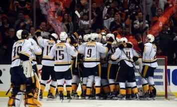 'Predators' no Stenlija kausa izslēdz 'Ducks'; 'Lightning' otro kārtu sāk ar zaudējumu