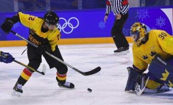 Vācijas hokejisti sensacionāli iekļūst Phjončhanas spēļu pusfinālā
