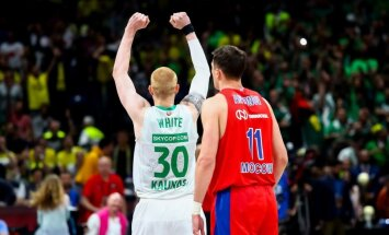 Foto: 'Žalgiris' sakauj CSKA un izcīna Eirolīgas bronzu