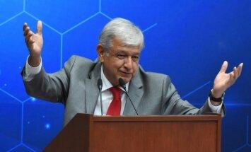 Meksikas jaunais līderis: 'Neviens mums nedraudēs' ar mūri