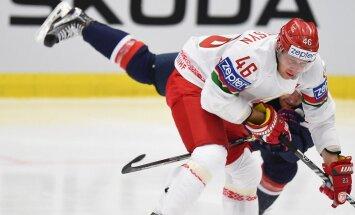 Baltkrievijas izlases līderis Andrejs Kosticins diskvalificēts uz vienu spēli