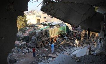 Krievija: virs saspridzinātā Sīrijas palīdzības konvoja atradās ASV koalīcijas lidaparāts