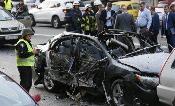 Взрыв автомобиля в центре Киева: погиб один человек