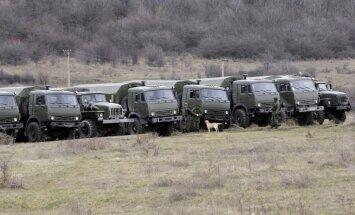 Foto: Krimas stratēģiskos punktus ieņem Krievijas militāristi