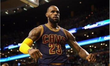 'Cavaliers' iekļūst NBA finālā; Džeimss labo leģendārā Džordana rekordu