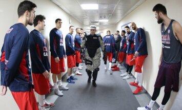CSKA players Euroleague Basketball in Belgrad