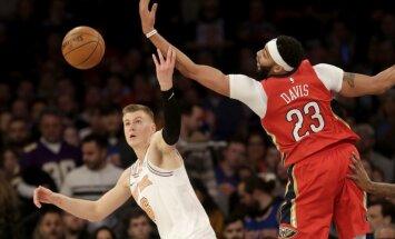 Porziņģa dauzpusīgais sniegums neglābj 'Knicks' no zaudējuma