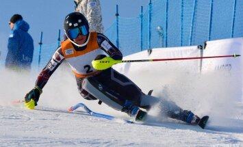 Kalnu slēpotāja Gasūna FIS sacensībās sasniedz karjeras trešo labāko rezultātu milzu slalomā