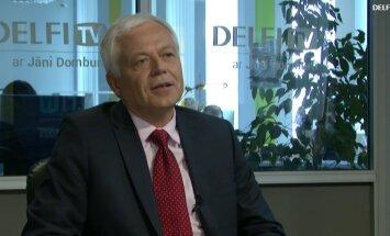 ВИДЕО: Интервью на Delfi TV: Янис Домбурс vs Улдис Сескс
