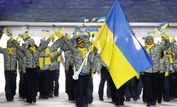 Ukrainas olimpiešiem liedz startēt ar sēru apsējiem