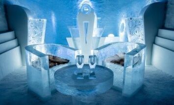 Zviedrijā tapusi pirmā ledus viesnīca, kur var nakšņot visu gadu