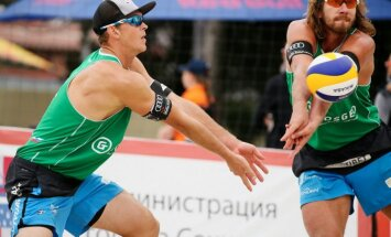 Samoilovs un Šmēdiņš piedzīvo zaudējumu astotdaļfinālā Sočos notiekošajā PK posmā