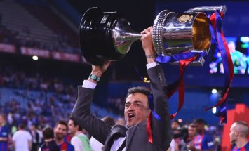 Barcelona coach Luis Enrique won Spanish Copa