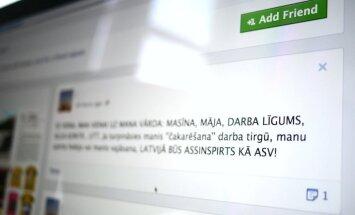 Sociālo tīklu lietotāju modrība palīdz aizturēt 'asinspirts sarīkošanas' solītāju