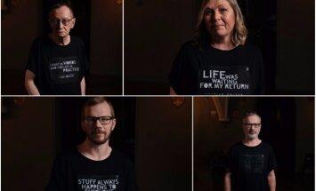 Radīti t-krekli ar Latvijas rakstnieku un dzejnieku citātiem