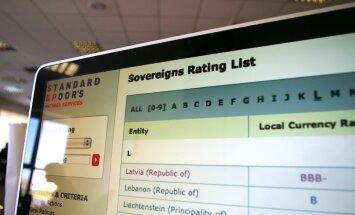 'Standard & Poor's' Latvijas kredītreitingu paaugstina no spekulatīvā uz investīciju līmeni