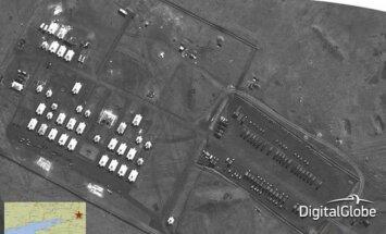 Satelīta foto: Krievijas spēki pie Ukrainas robežām
