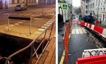 Būtiska atšķirība: gājēju satiksme remontu laikā Rīgā un citviet Eiropā