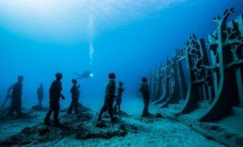 Lansarotes salā atklāts Eiropas pirmais zemūdens muzejs