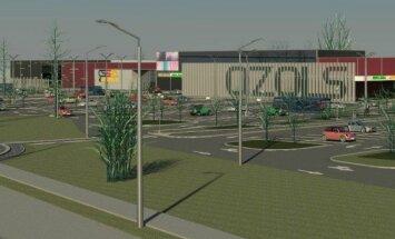 ФОТО: Рижский торговый центр Galerija Azur закрыт на реконструкцию