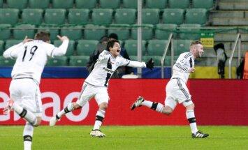 Poļu klubs 'Legia' pie tukšām tribīnēm sensacionāli atņem punktus Madrides 'Real'