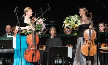 Foto: 'Čello Cēsis' koncerts ar Martu Sudrabu un Kristīni Blaumani