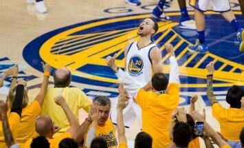 Karijs 'ievelk' 'Warriors' komandu NBA finālā