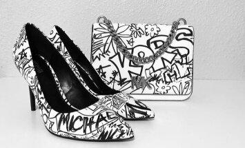 ФОТО. Туфли на шпильках и сумки покрыли граффити