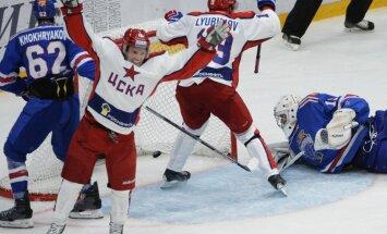 KHL Atklāšanas kausā spraigā cīņā uzvaru izcīna CSKA hokejisti