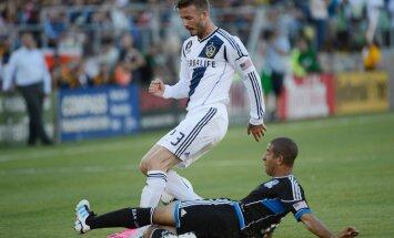 Losandželosas 'Galaxy' Bekhema atvadu mačā nosargā MLS čempionu titulu