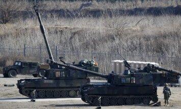 ASV 2017.gadā uz Igauniju nosūtīs desmit tankus un 120 karavīrus