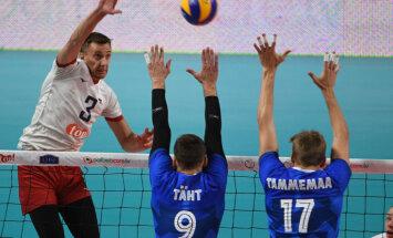 Latvijas vīriešu volejbola izlase 'gadsimta cīņā' kapitulē Igaunijai